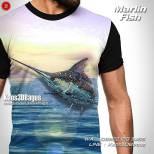 Kaos Marlin Fish, Kaos Tema Mancing, Kaos Klub Mancing