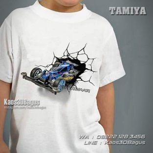 Kaos Mobil Tamiya, Kaos TAMIYA, Kaos3D, Mini4WD, Car Toys, Kaos Anak