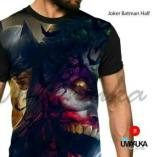 GROSIR KAOS 3D MURAH - Batman - JOKER BATMAN HALF