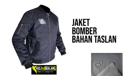 Jaket Bomber Bahan Taslan