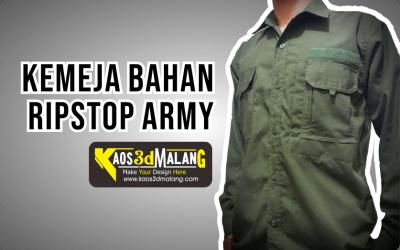 Kemeja Bahan Ripstop Army – Malang