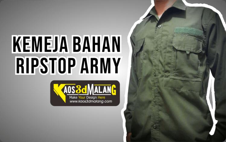 Kemeja Bahan Ripstop Army - Malang
