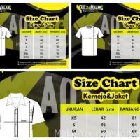 Mengenal Ukuran / Size Chart Kaos dan Polo, Kaos Kids, Kemeja dan Jaket