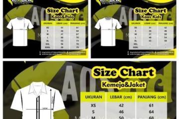 Mengenal Ukuran Size Chart Kaos dan Polo, Kaos Kids, Kemeja dan Jaket 2