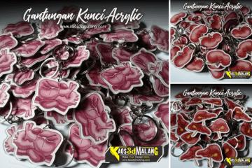 Gantungan Kunci Acrylic Malang