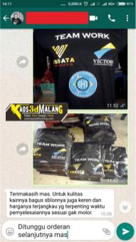 Testimoni Kaos 3D Malang - Buat sablon Malang Custom