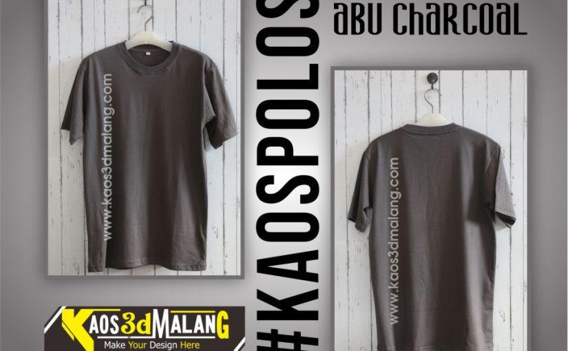 Kaos Polos Warna Abu Charcoal