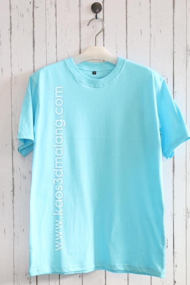 Kaos Polos Warna Biru Ice Blue