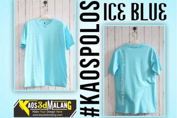 Kaos Polos Biru Ice Blue