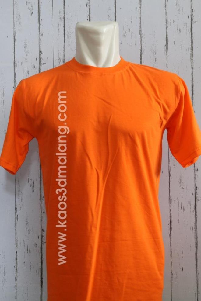 Kaos Polos Warna Orange