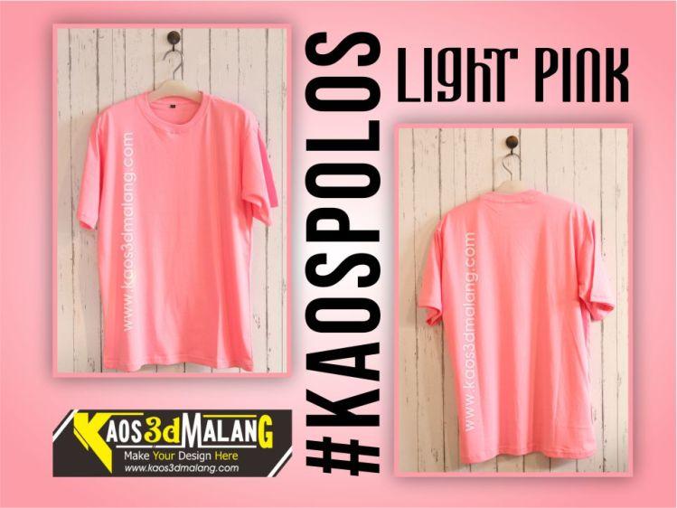 Kaos Polos Warna Pink Light