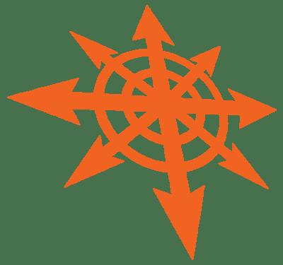 KAOS-Symbol orange