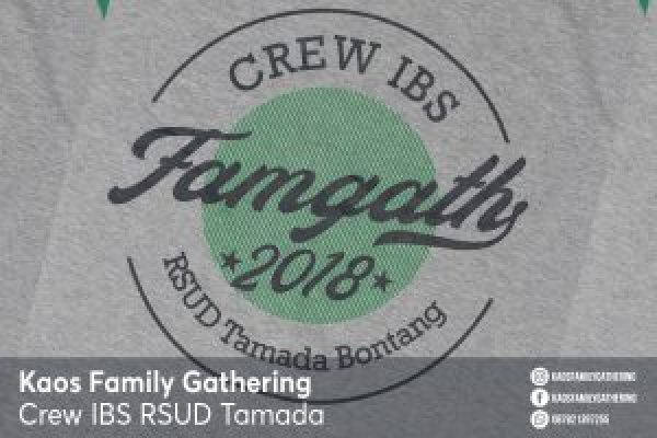 Kaos Family Gathering Crew IBS RSUD Tamada Bontang 2