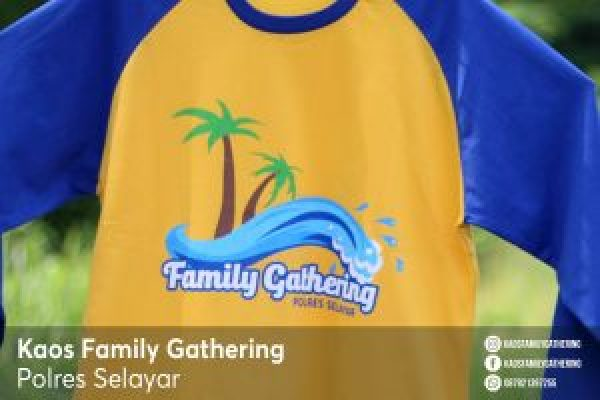 Kaos Family Gathering Polres Selayar 1