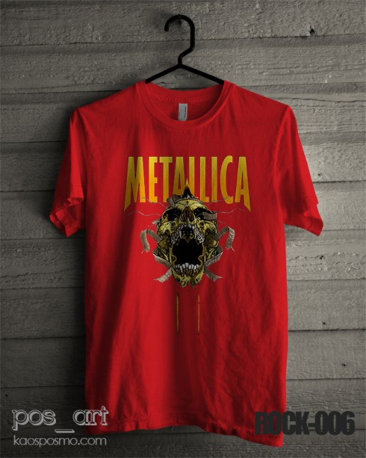 kaos rock n roll #6 metallica scream