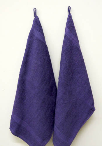Fingertip Violet Towels