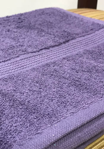 Violet Bath Towels
