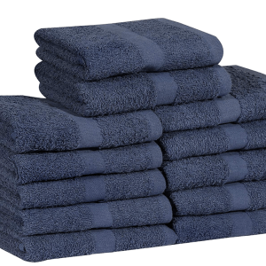 16 x 27 navy blue hand towel