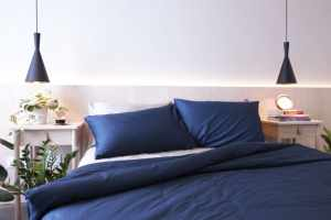 Navy blue and white duvet set Kapas mix and match