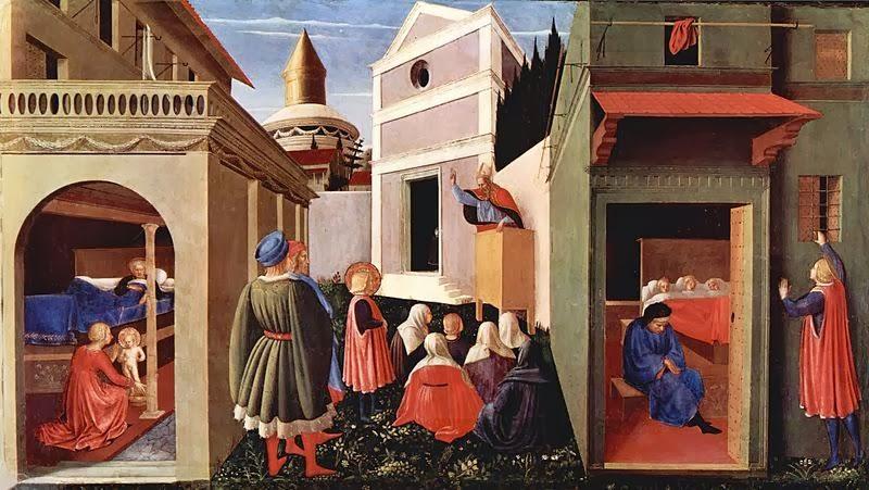 Festő: Fra Angellico képcím: A 3 szűz férjhezadása