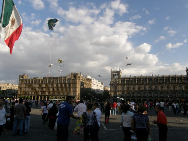Centrale plein Mexico City