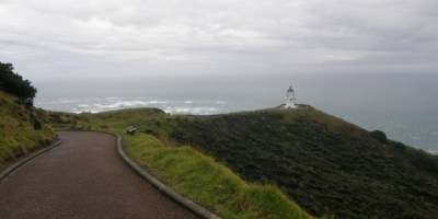 Cape Reinga in de regen