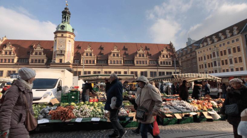 stadsbeeld markt leipzig