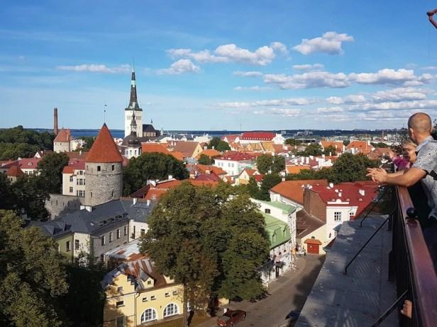 Tallinn uitzicht oude stadscentrum