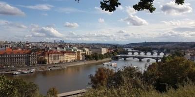 uitzicht over Praag vanaf Letna Park