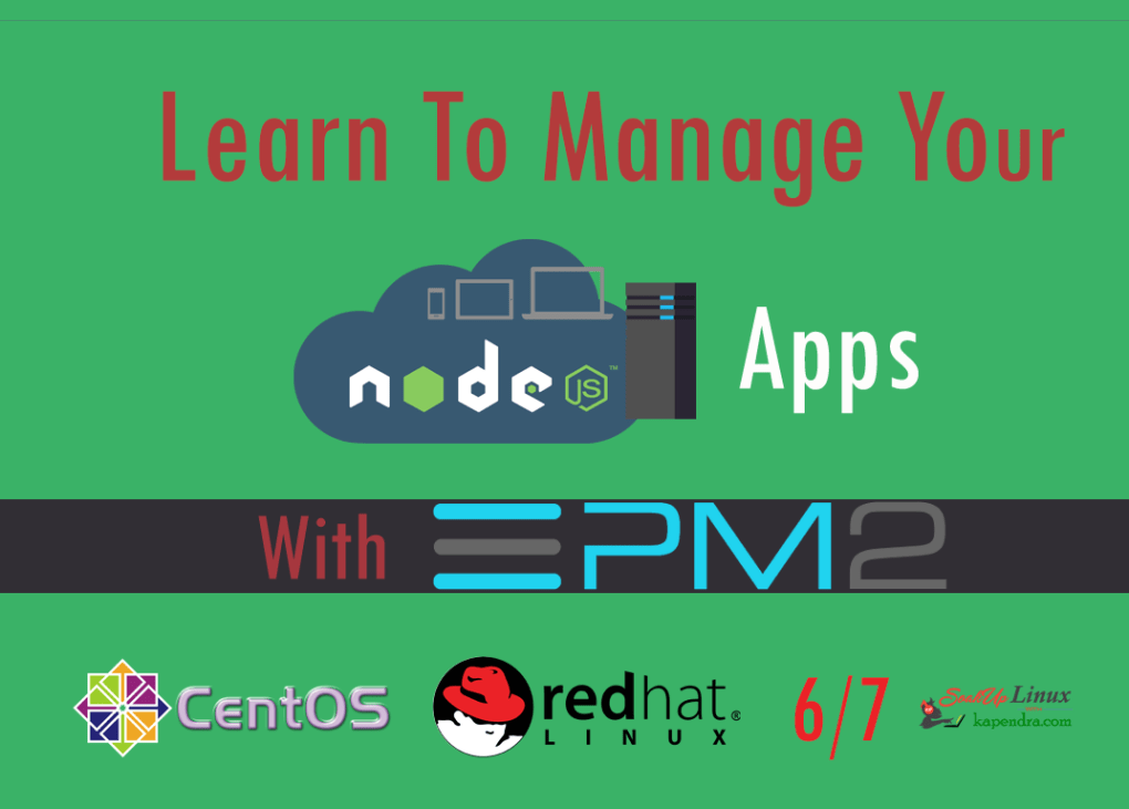 Learn NodeJS App Management And Getting Started With PM2 On RHEL/CentOS 6/7
