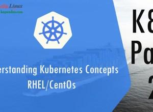 Understanding Kubernetes Concepts RHEL/CentOs K8s Part-1
