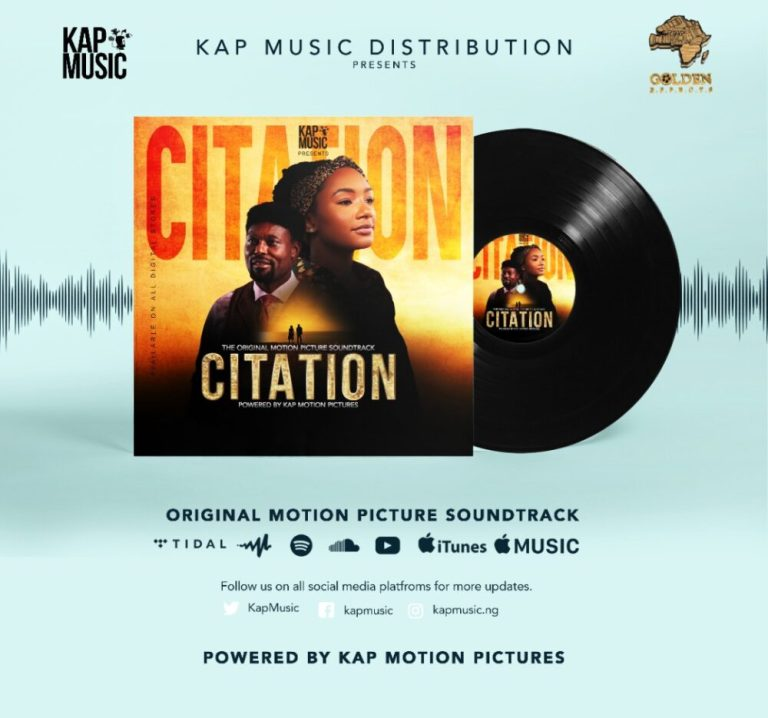 It's Finally Here! #Citationthemovie Official Soundtracks are now Available for Download on all Music Streaming Platforms.