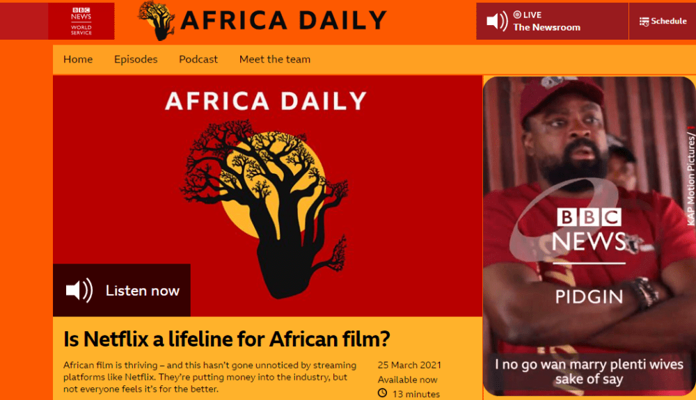 See The Tori Wey Kunle Afolayan Talk in Him Interview with BBC News Pidgin and BBC News