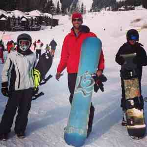 Gabe and sons snowboarding