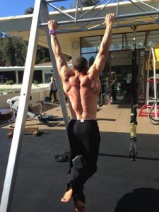 Gabe doing pull-ups
