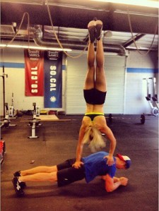Cassidy and Hunter doing crossfit
