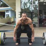 Gabe Kapler lifting a weighted bar
