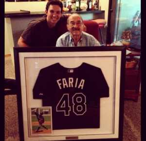 Jacob Faria with his grandfather