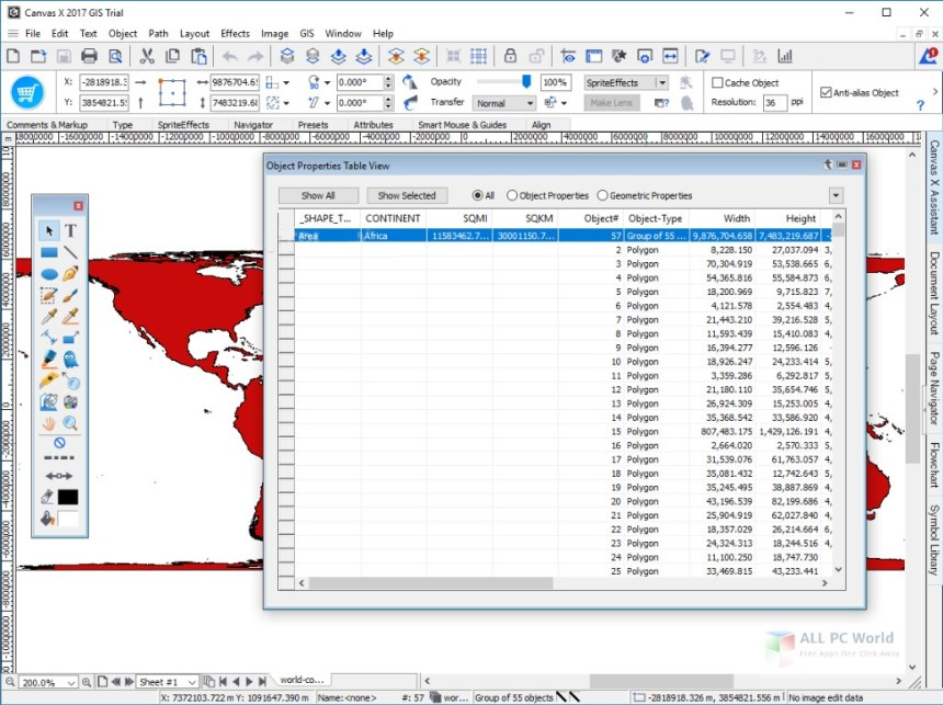 Descarga gratuita de ACD Systems Canvas X GIS 2019