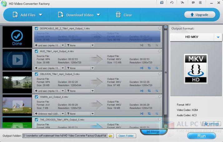 HD Video Converter Factory Review y características