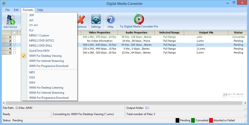 DeskShare Digital Media Converter Pro v4.16 Descargar
