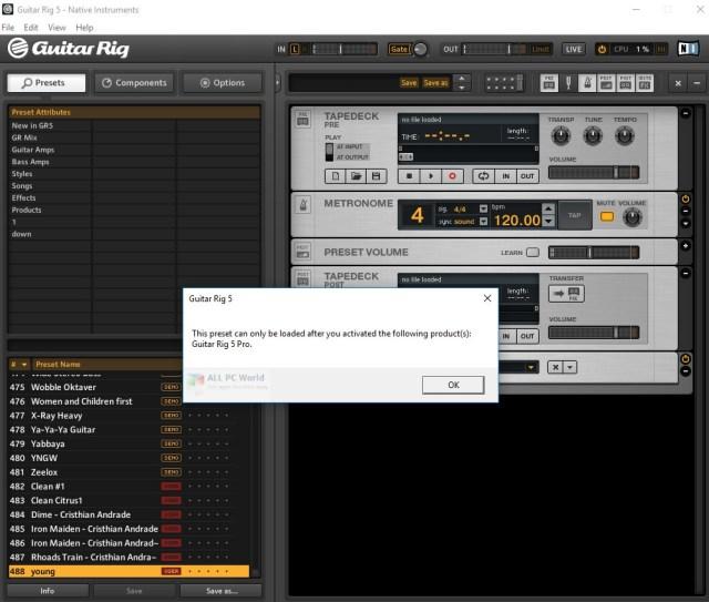 Guitar Rig 5.2 Descarga gratis