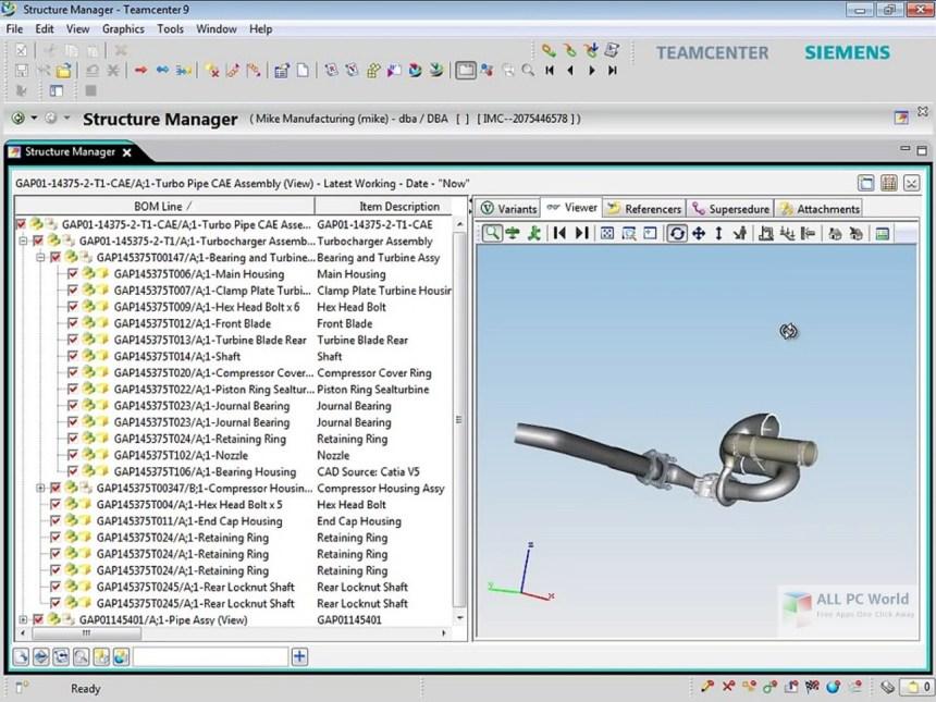 Siemens PLM TeamCenter 9.1