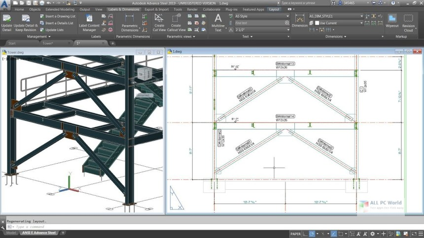 Autodesk Advance Steel 2020 Descarga gratis