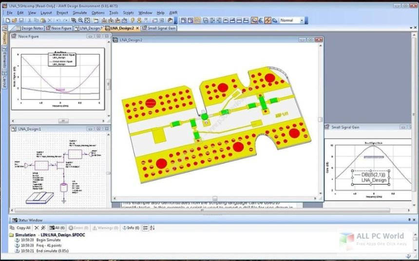 Entorno de diseño NI AWR 13.01