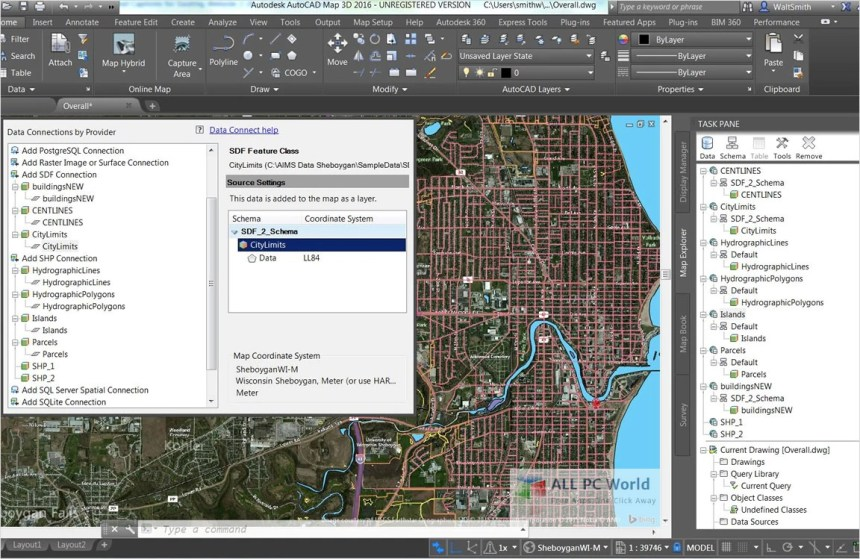 AutoCAD Map 3D 2019 Descarga gratis