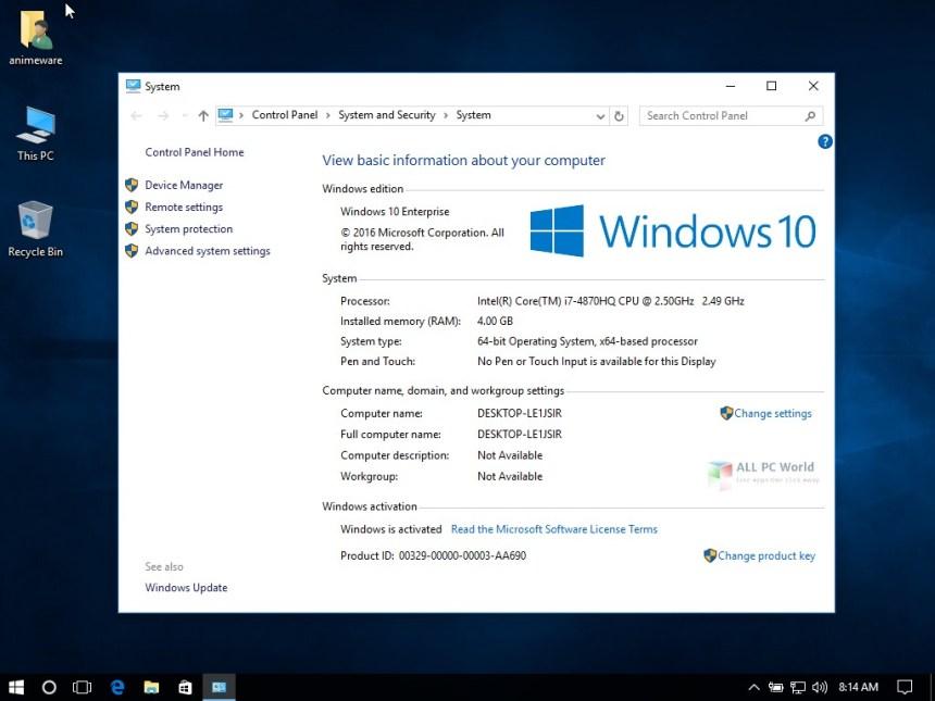 Revisión de Microsoft Windows 10 Enterprise 1709