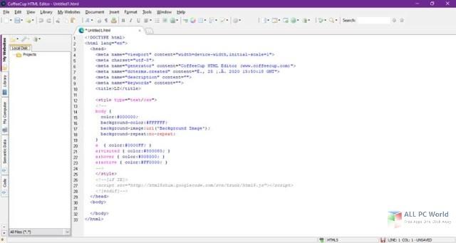 Descarga gratuita de CoffeeCup HTML Editor 17.0
