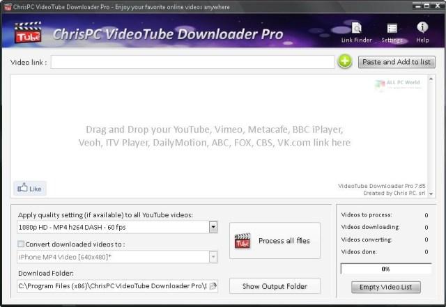 ChrisPC VideoTube Downloader Pro 12.13 Descarga gratuita de la versión completa