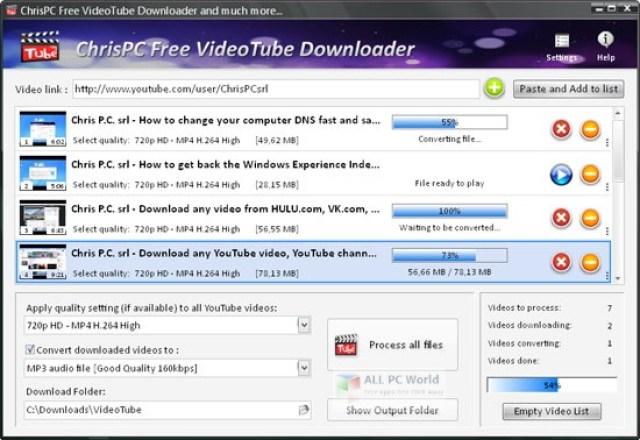 ChrisPC VideoTube Downloader Pro 12.13 Descarga con un clic